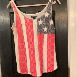 🇺🇸 Lucky Brand American flag tank small 🇺🇸